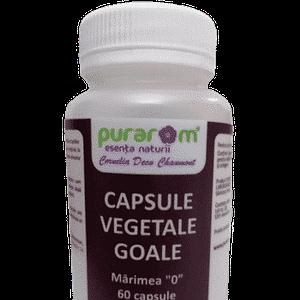 capsule vegetale goale marimea 0, pentru uleiuri esentiale, pudre si plante macinate